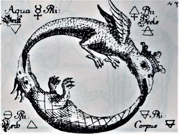 Lohikäärme ja neljä elementtiä, Uraltes chymisches, 1760