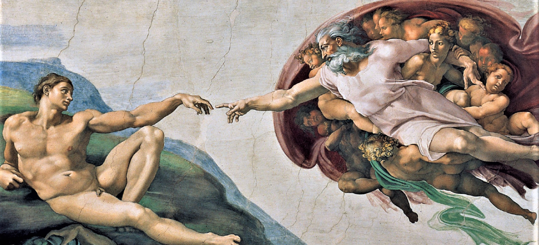 Adamin luonti, Michelangelo (1512)