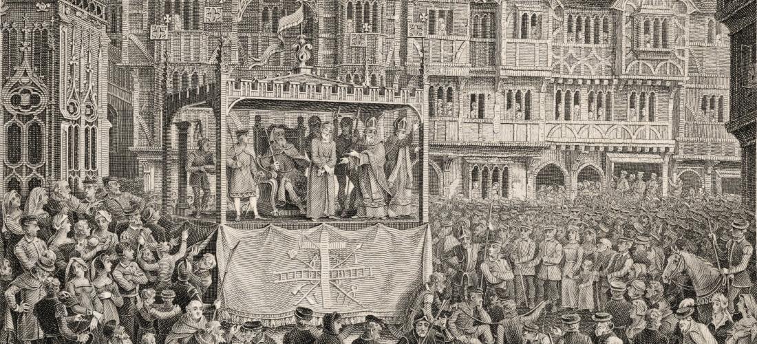 1500-luvun pääsiäisaiheinen mysteerinäytelmä (Coventry mystery), Public Domain