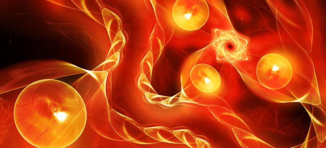 Fiery glowing quantum correlation 3D
