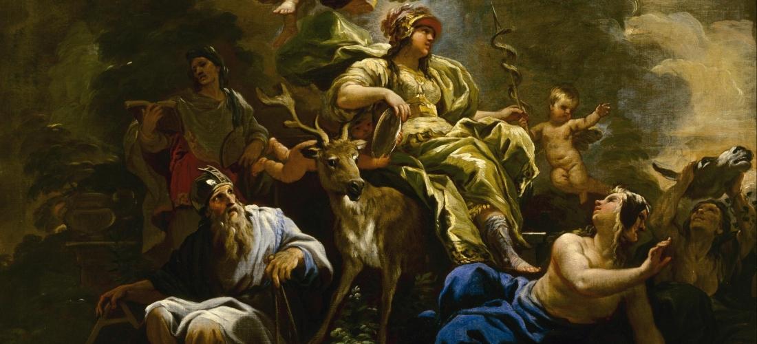 Luca Giordano - Hyve-maalaussarjasta: Allegoria harkitsevaisuudesta (1680)